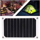 Солнечная мини – панель 6 Вт 5 В полугибкая, зарядное устройство, фото 3