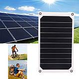 Солнечная мини – панель 6 Вт 5 В полугибкая, зарядное устройство, фото 4