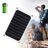 Солнечная мини – панель 6 Вт 5 В полугибкая, зарядное устройство, фото 5