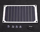 Солнечная мини – панель 6 Вт 5 В полугибкая, зарядное устройство, фото 6