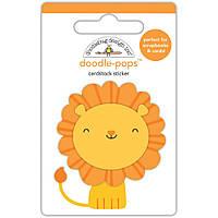 Наклейка 3D - Doodlebug - At The Zoo - Leo Lion