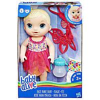 Кукла пупс Малышка Фея блондинка  Hasbro Baby Alive Face Paint Fairy BlondeB9723