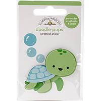 Наклейка 3D - Doodlebug - Tiny Turtle