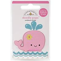 Наклейка 3D -  Doodlebug - Winnie Whale