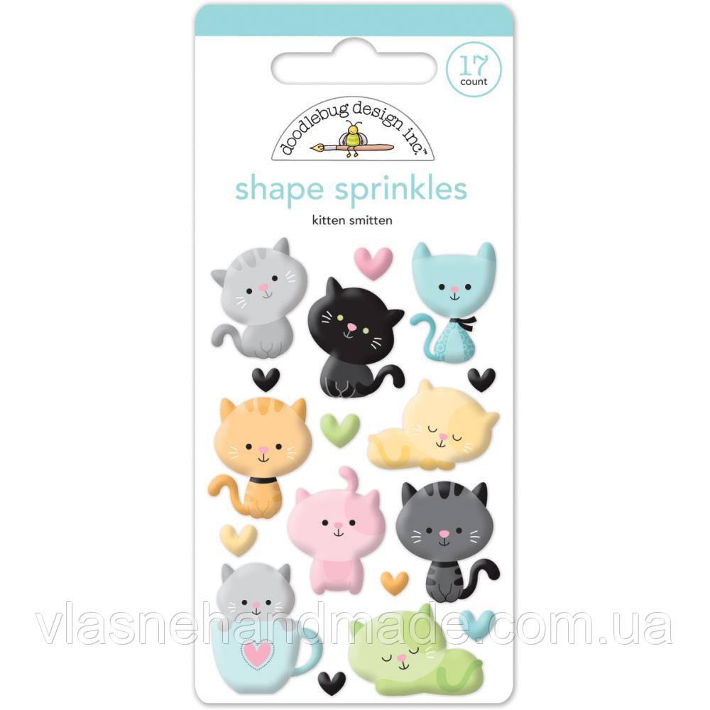 Наклейки епоксидні - Kitten Smitten - Doodlebug - 17Pkg