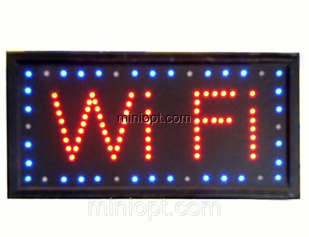 Вывеска светодиодная `WiFi`. 48x25 см