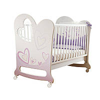 Кроватка Olbo My Love White Pink 1250011 ТМ: Pali
