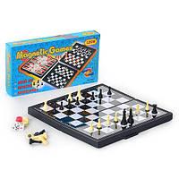 Шахматы, шашки, нарды 3в1 (магнитные) 3831