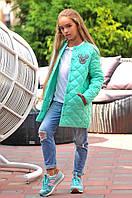 Куртка на девочку на синтепоне удлиненная , фото 1