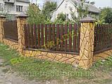 Штакетний паркан з металу, фото 2