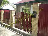 Штакетний паркан з металу, фото 4