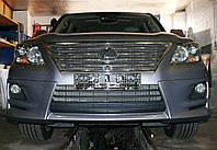 Декоративно-защитная сетка радиатора Lexus LX 570 фальшрадиаторная решетка, бампер