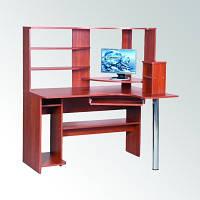Угловой компьютерный стол СУ-10, с большой надстройкой для книг или документов, фото 1