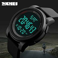 Спортивні водонепроникні годинники Skmei 1257 Black