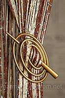 Заколка для нитяных штор Классик Овал желто-золотой