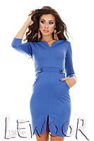 Облегающее платье с карманами и разрезом