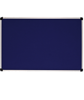 Доска для объявлений текстильная размером 65х100 см, цвет синий. Алюминиевая рама S-line