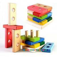 Пирамидка-конструктор Логика 10 дет. Руді Ду-32