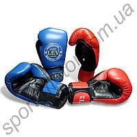Перчатки боксерские LEV кожа+винил 14ун