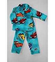 """Детская махровая пижама """"Тачки"""", рост от 74 до 128 см"""