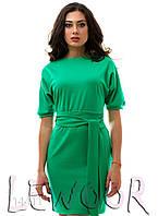 """Интересное платье с рукавом """"летучая мышь"""" Зеленый, Размер 48 (XL)"""