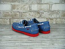 Мокасины топсайдеры мужские SEBAGO Blue/Red, себаго, фото 2