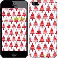 """Чехол на iPhone 5 Christmas trees """"3856c-18-716"""""""