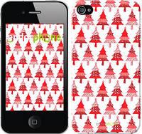 """Чехол на iPhone 4s Christmas trees """"3856c-12-716"""""""