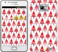 "Чехол на Samsung Galaxy S2 Plus i9105 Christmas trees ""3856c-71-716"""