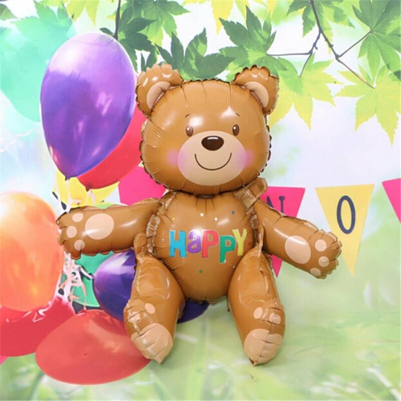 Повітряна кулька Ведмедик Тедді Куля конструктор. 3D 59×72×38 див.