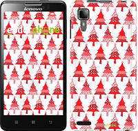 "Чехол на Lenovo P780 Christmas trees ""3856u-305-716"""