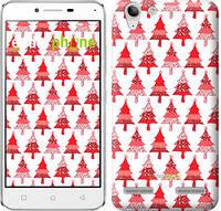 "Чехол на Lenovo K5 Plus Christmas trees ""3856c-278-716"""