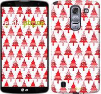 "Чехол на LG G Pro 2 D838 Christmas trees ""3856u-375-716"""
