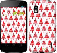 "Чехол на LG Nexus 4 E960 Christmas trees ""3856u-203-716"""