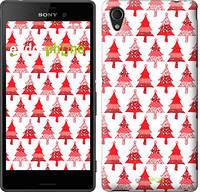 """Чехол на Sony Xperia M4 Aqua Christmas trees """"3856c-162-716"""""""