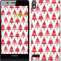 "Чехол на Huawei Ascend P6 Christmas trees ""3856c-39-716"""