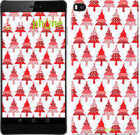 "Чехол на Huawei Ascend P8 Christmas trees ""3856u-123-716"""