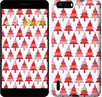 "Чехол на Huawei Honor 6 Plus Christmas trees ""3856u-179-716"""