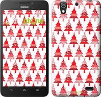 "Чехол на Huawei Ascend G630 Christmas trees ""3856u-137-716"""