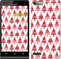 "Чехол на Huawei Ascend G6 Christmas trees ""3856u-367-716"""