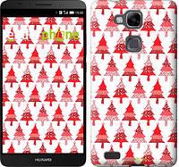 """Чехол на Huawei Ascend Mate 7 Christmas trees """"3856u-140-716"""""""