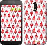 "Чехол на Motorola MOTO G4 Christmas trees ""3856c-511-716"""