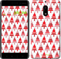 "Чехол на Nokia 6 Christmas trees ""3856u-898-716"""