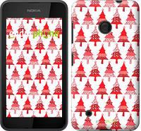 "Чехол на Nokia Lumia 530 Christmas trees ""3856u-205-716"""