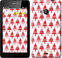"Чехол на Microsoft Lumia 535 Christmas trees ""3856u-130-716"""