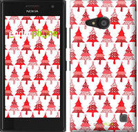 "Чехол на Nokia Lumia 730 Christmas trees ""3856c-204-716"""