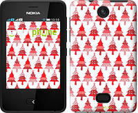 "Чехол на Nokia Asha 501 Christmas trees ""3856u-209-716"""