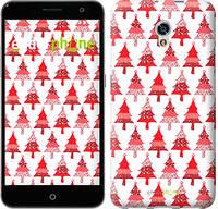 """Чехол на ZTE Blade V7 Christmas trees """"3856u-688-716"""""""