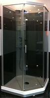 IDO передние стенки и дверь тонированое стекло, белая фронтальная панель душевой кабины 8-5 1000*1000мм