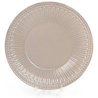 Набор 4 обеденные тарелки Stone Flower Ø20см, бежевые